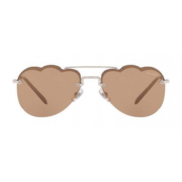 Miu Miu - Occhiali Miu Miu Noir - Aviator Nuvola - Cammeo Specchiati - Occhiali da Sole - Miu Miu Eyewear