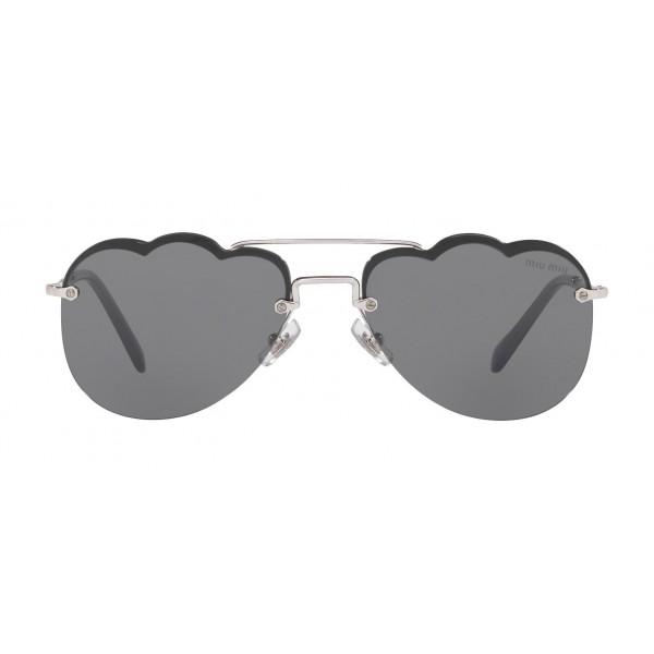 Miu Miu - Occhiali Miu Miu Noir - Aviator Nuvola - Grigio Scuro - Occhiali da Sole - Miu Miu Eyewear