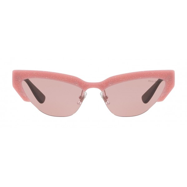 Miu Miu - Miu Miu Catwalk Sunglasses - Cat Eye - Rose Powder - Sunglasses - Miu Miu Eyewear