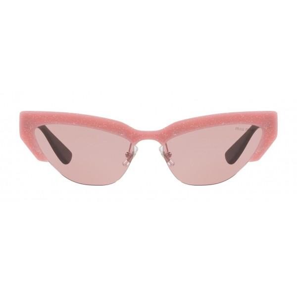 Miu Miu - Occhiali Miu Miu da Sfilata - Cat Eye - Rosa Cipria - Occhiali d Sole - Miu Miu Eyewear