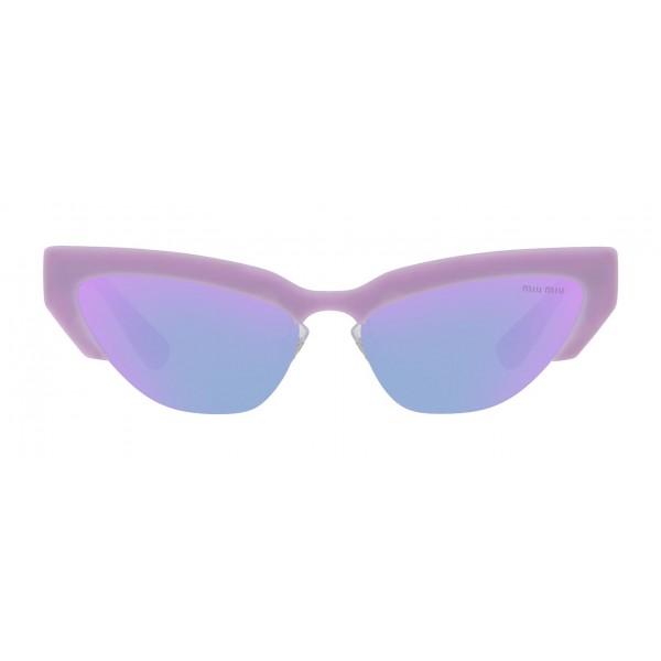 Miu Miu - Occhiali Miu Miu da Sfilata - Cat Eye - Rosa Pervinca - Occhiali d Sole - Miu Miu Eyewear