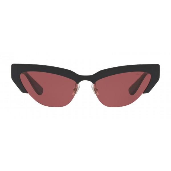 Miu Miu - Occhiali Miu Miu da Sfilata - Cat Eye - Amarena - Occhiali da Sole - Miu Miu Eyewear