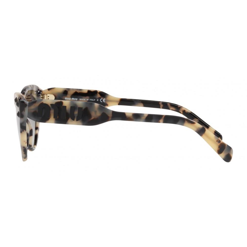4f4c3b3dca3 ... Miu Miu - Miu Miu Catwalk Sunglasses with Crystals - Cat Eye - Havana Gray  Gradient ...