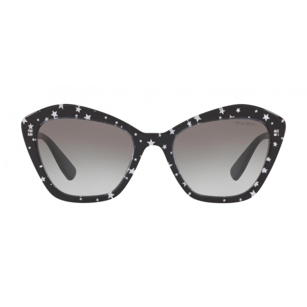 Miu Miu - Miu Miu Catwalk Sunglasses with Stars Logo - Cat Eye - Anthracite Gradient - Sunglasses - Miu Miu Eyewear