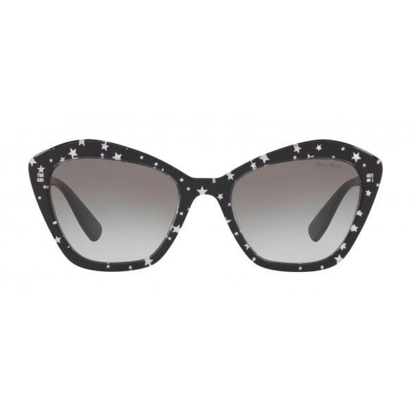 Miu Miu - Occhiali Miu Miu con Logo Stelle - Cat Eye - Antracite Sfumato - Occhiali da Sole - Miu Miu Eyewear