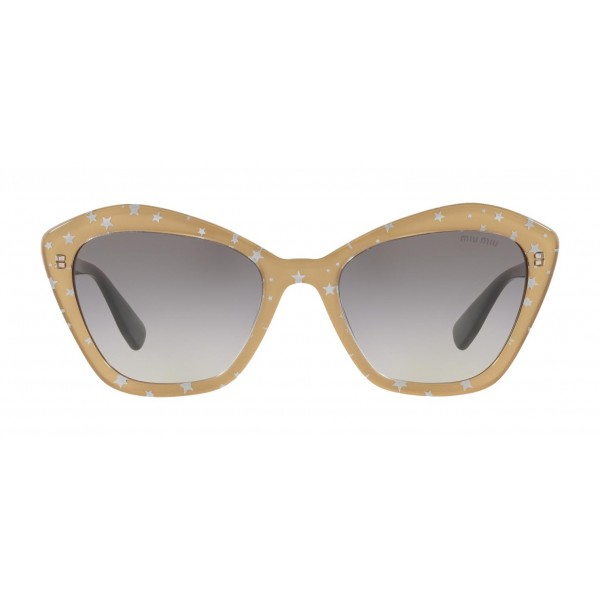 Miu Miu - Miu Miu Catwalk Sunglasses with Stars Logo - Cat Eye - Slate Gradient - Sunglasses - Miu Miu Eyewear