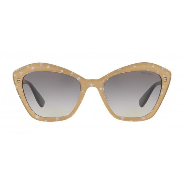 Miu Miu - Occhiali Miu Miu con Logo Stelle - Cat Eye - Ardesia Sfumato - Occhiali da Sole - Miu Miu Eyewear