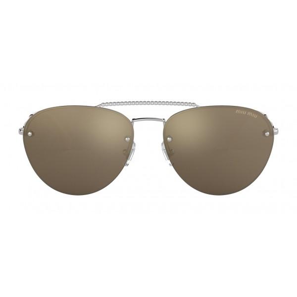 97afc4373 Miu Miu - Miu Miu Noir Sunglasses - Aviator - Gold Mirrored - Sunglasses -  Miu