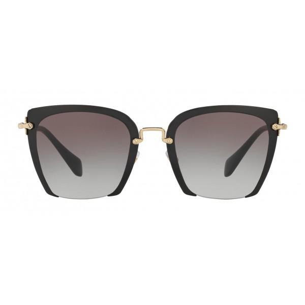 3b2c0b25c5eb Miu Miu - Miu Miu Rasoir with Cut Off Lenses Sunglasses - Quadrati -  Anthracite Gradient