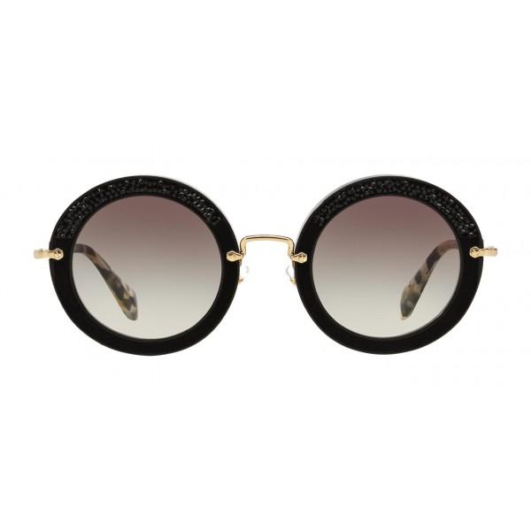 grandi affari negozio ufficiale stili classici Miu Miu - Occhiali Miu Miu Noir con Cristalli - Rotondi - Carbone -  Occhiali da Sole - Miu Miu Eyewear - Avvenice