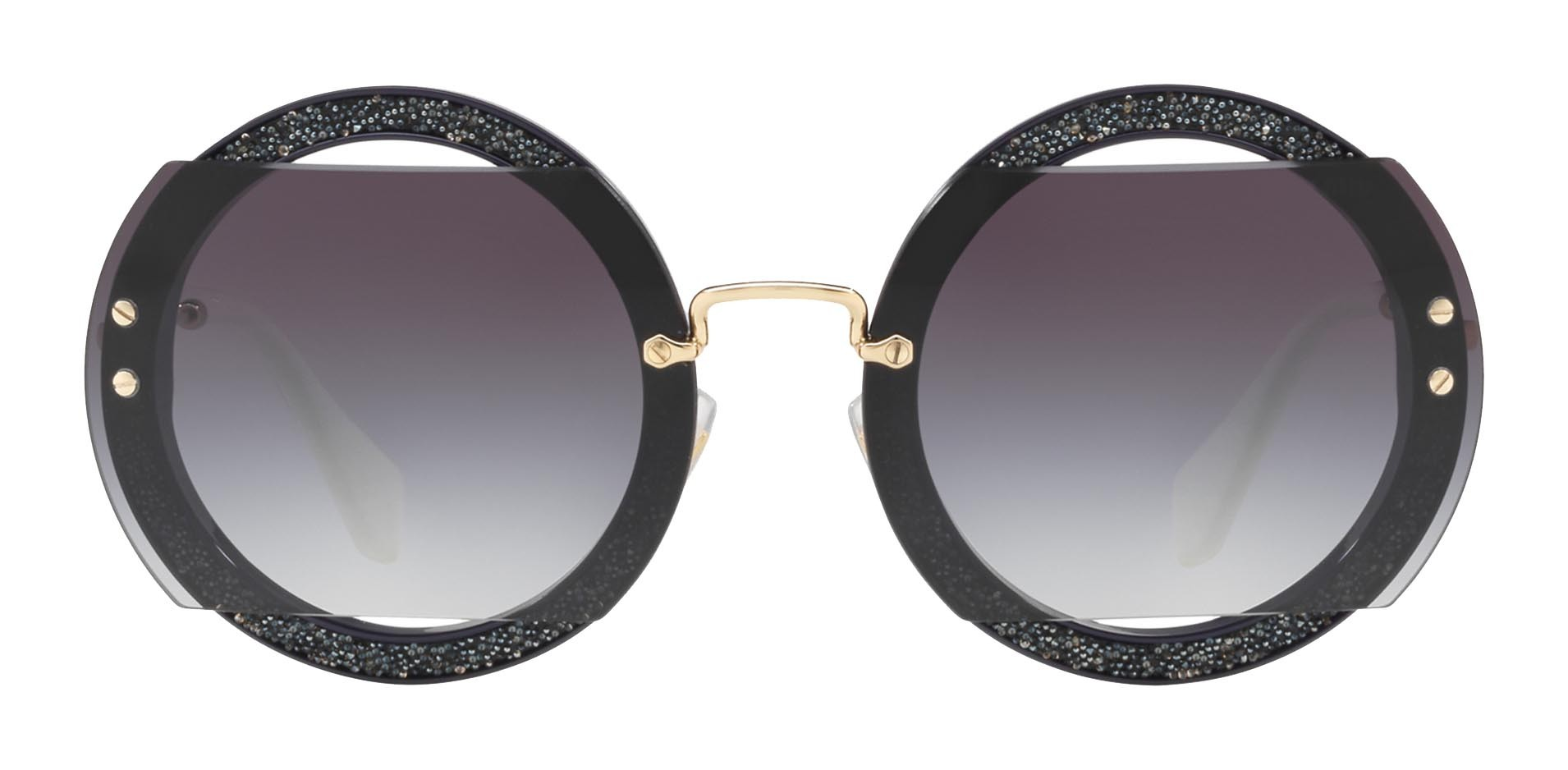 04f4d2498f6 Miu Miu - Miu Miu Reveal with Glitter Sunglasses - Round - Smoke -  Sunglasses - Miu Miu Eyewear