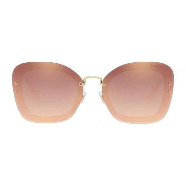 216af98bb38d Miu Miu - Miu Miu Reveal with Glitter Sunglasses - Oversize - Copper  Mirrored - Sunglasses