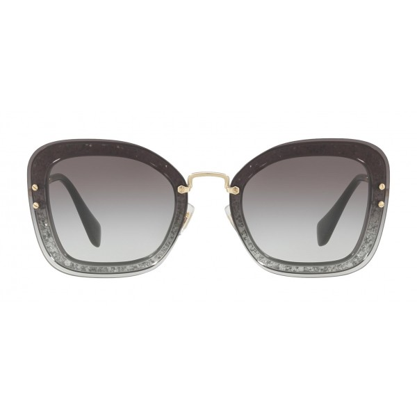 8d71dfc8f42 Miu Miu - Miu Miu Reveal with Glitter Sunglasses - Oversize - Anthracite  Gradient - Sunglasses
