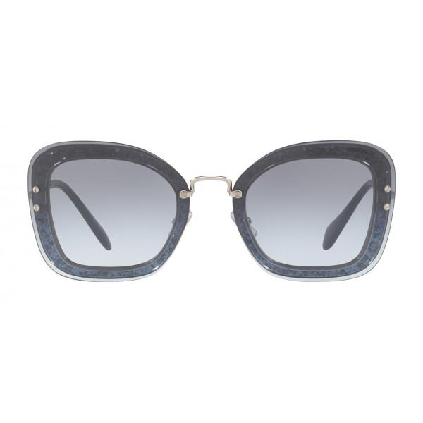 ec642aedb5f Miu Miu - Miu Miu Reveal with Glitter Sunglasses - Oversize - Blue Denim -  Sunglasses