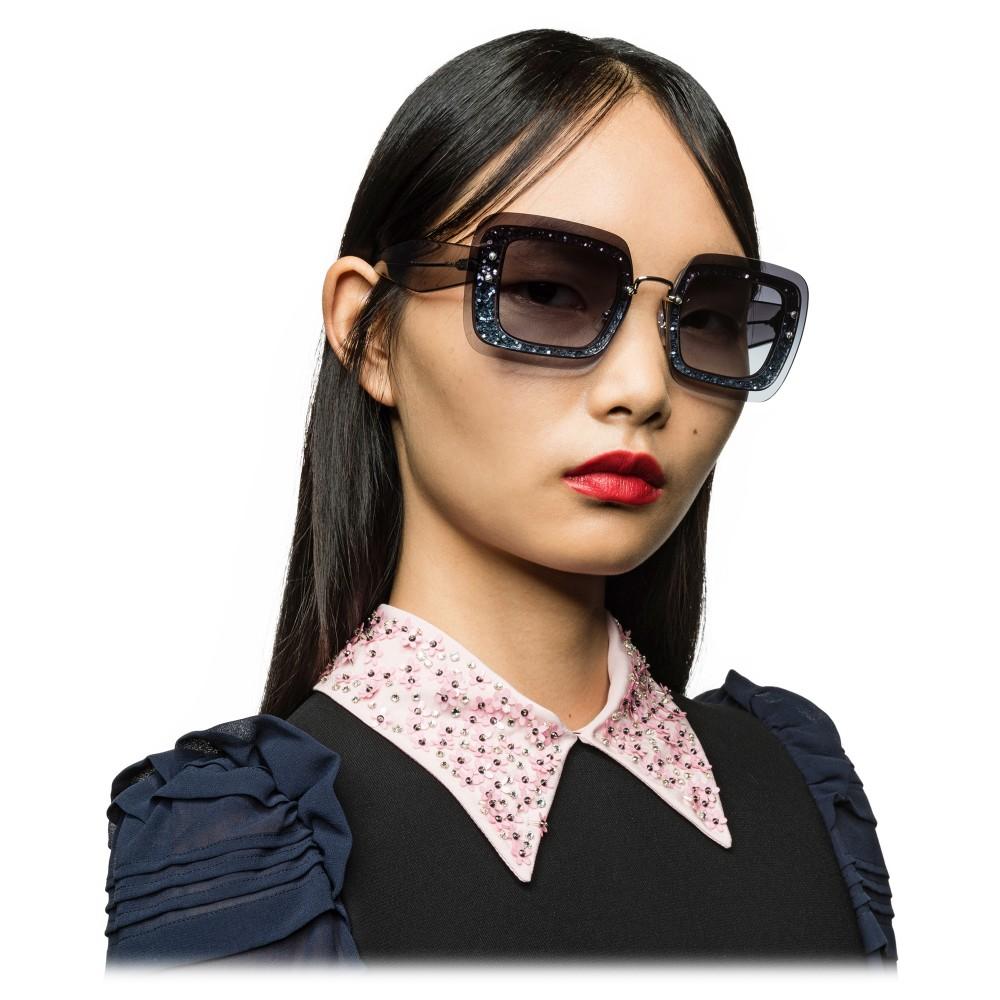 9edc4f51c0e6 ... Miu Miu - Miu Miu Reveal with Glitter Sunglasses - Square - Blue Denim  - Sunglasses ...