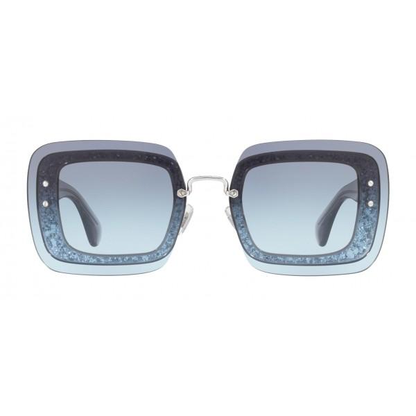 9805de3cc753 Miu Miu - Miu Miu Reveal with Glitter Sunglasses - Square - Blue Denim -  Sunglasses