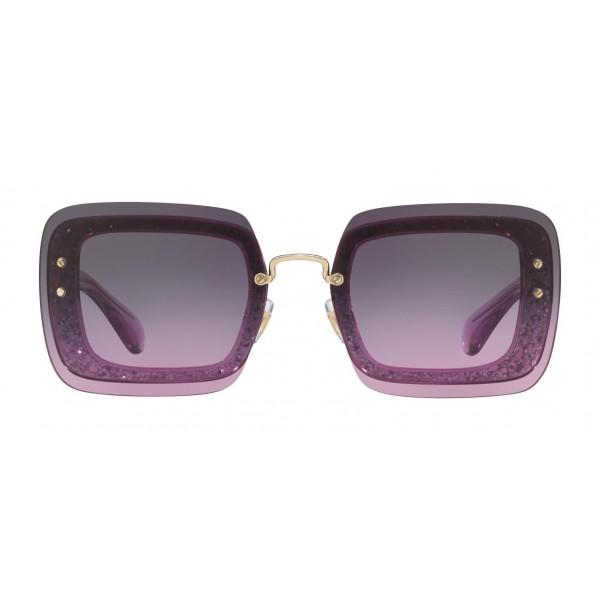 Reveal Gray Square Eyewear Miu Avvenice Glitter Sunglasses With Avio Pyv80NwmnO