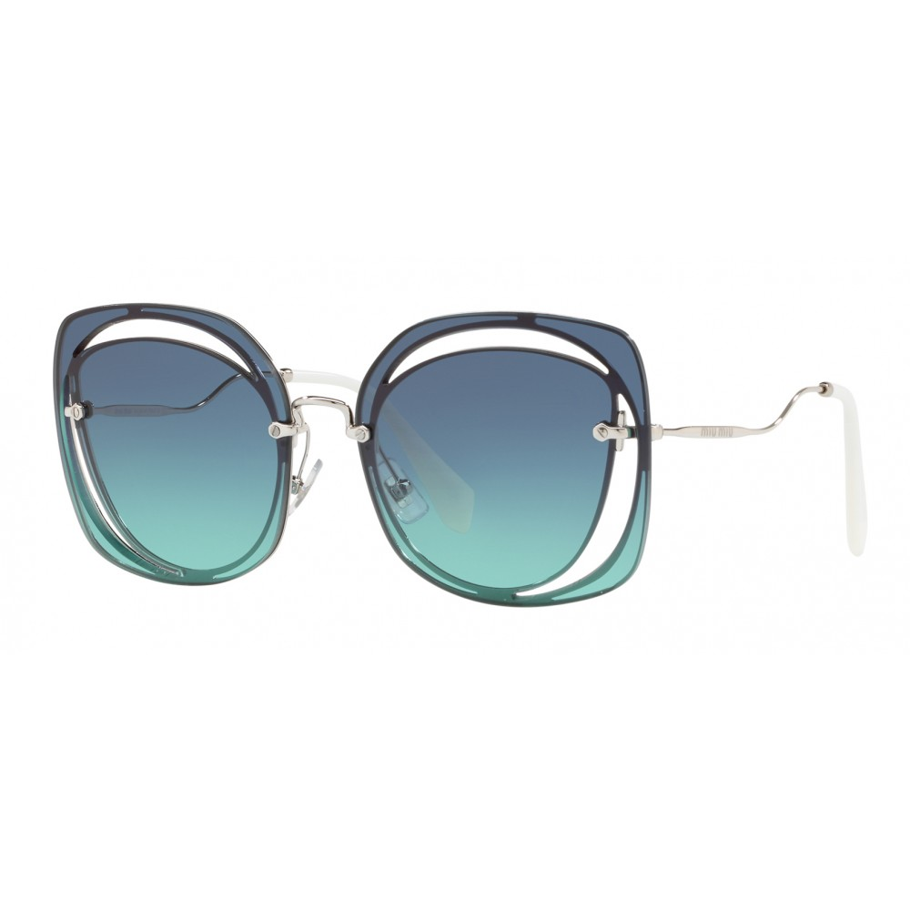 b2f8baf27146 ... Miu Miu - Miu Miu Scénique with Cut Cut Sunglasses - Flat - Blue  Gradient ...