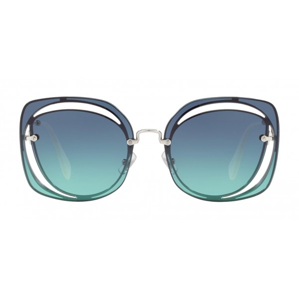 30dae8dc2c58 Miu Miu - Miu Miu Scénique with Cut Cut Sunglasses - Flat - Blue Gradient -