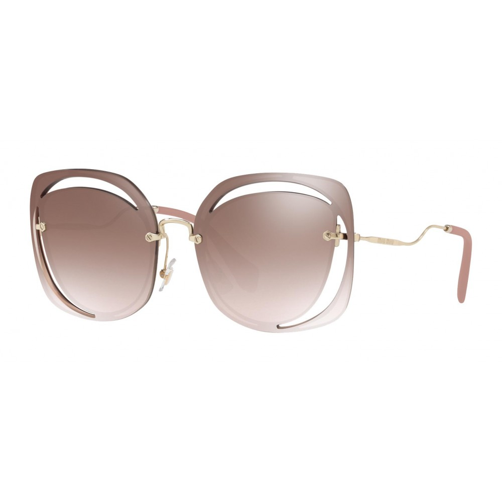 9168724de406 ... Miu Miu - Miu Miu Scénique with Cut Cut Sunglasses - Flat - Brown  Gradient ...