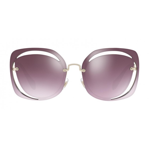 c123b00fefed Miu Miu - Miu Miu Scénique with Cut Cut Sunglasses - Flat - Blue Raspberry  Gradient