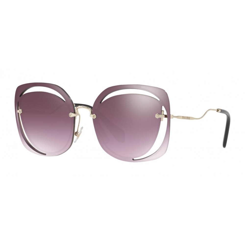 742e3478b25f ... Miu Miu - Miu Miu Scénique with Cut Cut Sunglasses - Flat - Blue  Raspberry Gradient ...
