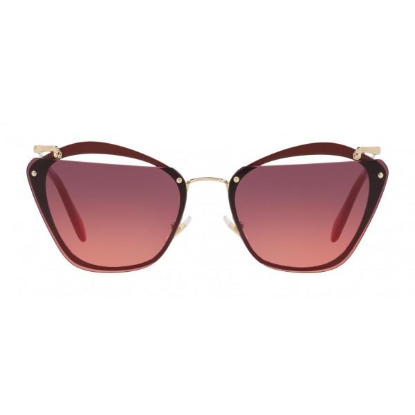 fc07e720cdaf Miu Miu - Miu Miu Noir Sunglasses - Cat Eye with Cut Out Lenses - Pink