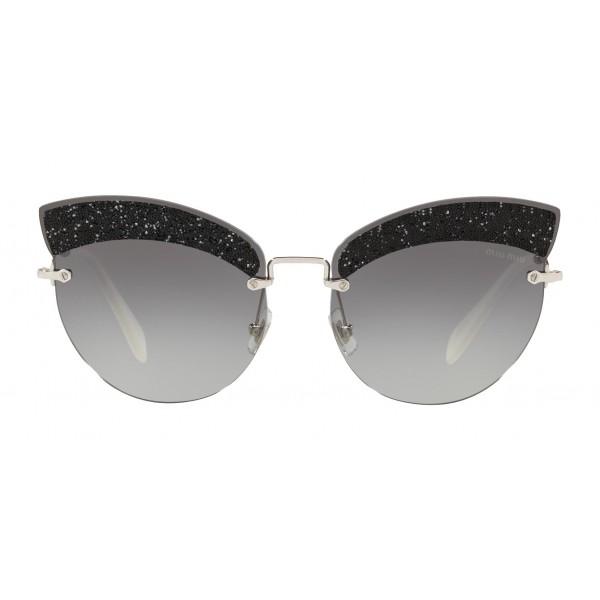 e2f7dd265bb2 Miu Miu - Miu Miu Noir with Glitter Sunglasses - Cat Eye - Grey Gradient -