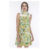 Leda Di Marti - Vestito Pusa - Stampa Cedro - Haute Couture Made in Italy - Abito di Alta Qualità Luxury