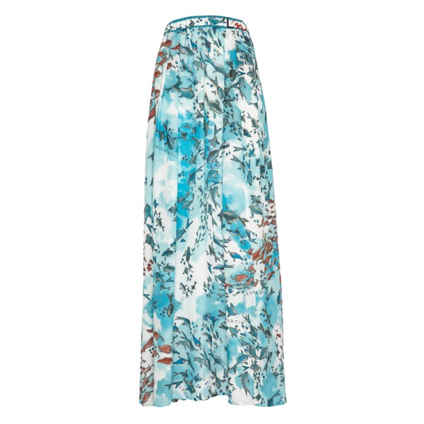 Leda Di Marti - Grampo Long Skirt - Ocean Print - Haute Couture Made in Italy - Luxury High Quality Dress