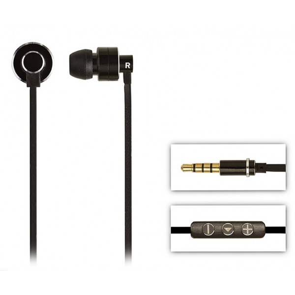 2 ME Style - Earphones In-Ear Aluminium Black