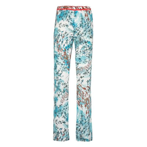 Leda Di Marti - Pantaloni Capodoglio - Stampa Oceano - Haute Couture Made in Italy - Abito di Alta Qualità Luxury