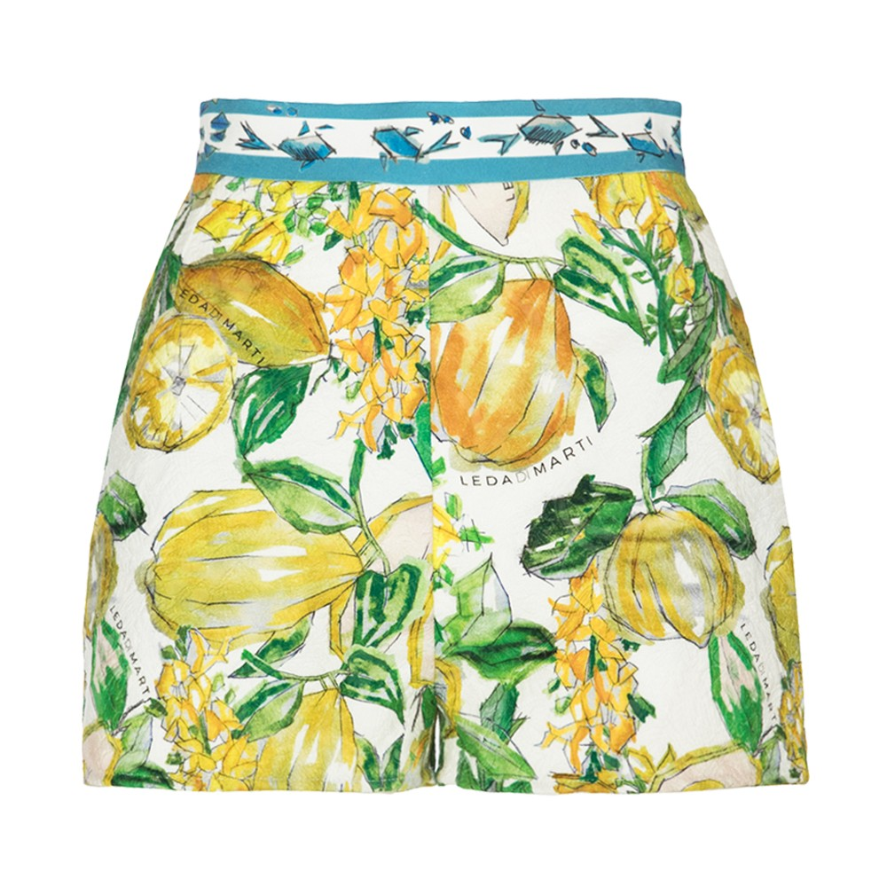 Ametista Dove Trovarla leda di marti - lamantino shorts - white citrus print - haute