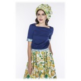 Leda Di Marti - Grampo Long Skirt - Cedar Print - Haute Couture Made in Italy - Luxury High Quality Dress