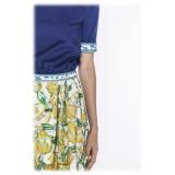 Leda Di Marti - Gonna Grampo - Stampa Cedro - Haute Couture Made in Italy - Abito di Alta Qualità Luxury