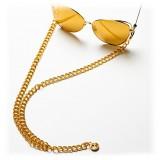Linda Farrow - 3 C2 Fine Chain - Rose Gold-Plated Eyewear Chain - Linda Farrow Eyewear