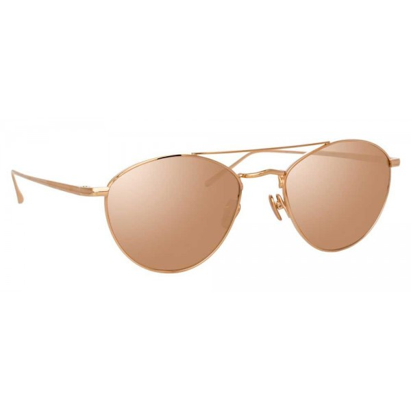 9c56946a73a Linda Farrow - 876 C3 Aviator Sunglasses - Rose Gold - Linda Farrow Eyewear  - Avvenice