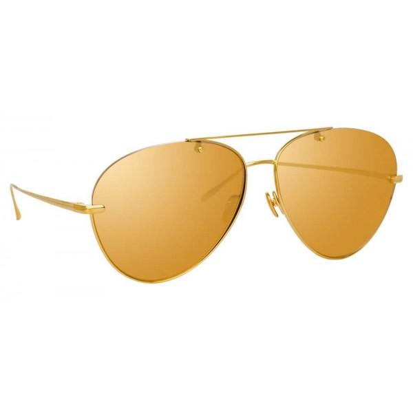 783c72b0aa Linda Farrow - 859 C1 Aviator Sunglasses - Yellow Gold - Linda Farrow  Eyewear - Avvenice