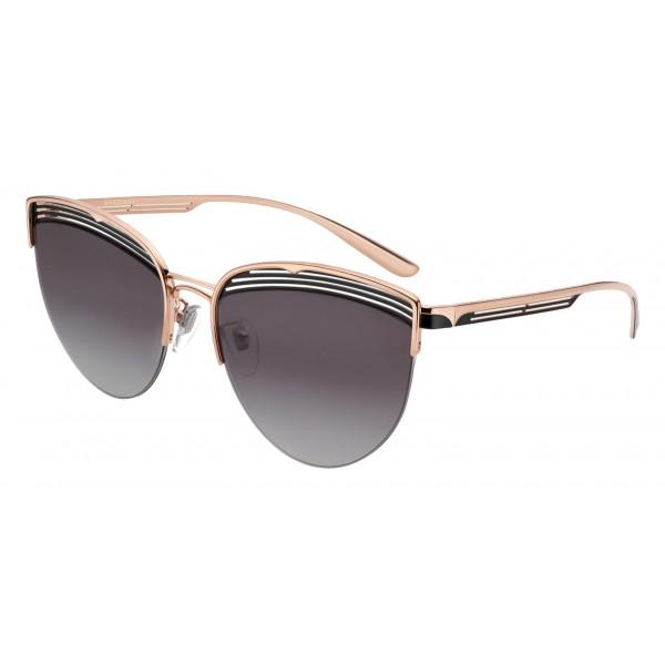 Bulgari - B.ZERO1 - Occhiali da Sole Cat Eye B.Purevibes - Semi-Rimeless - Neri - B.ZERO1 Collection - Bulgari Eyewear