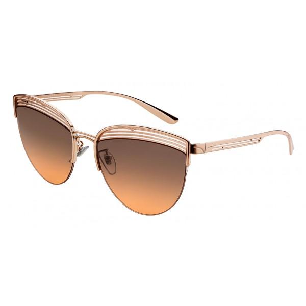 Bulgari - B.ZERO1 - Occhiali da Sole Cat Eye B.Purevibes - Semi-Rimeless - Oro - B.ZERO1 Collection - Bulgari Eyewear