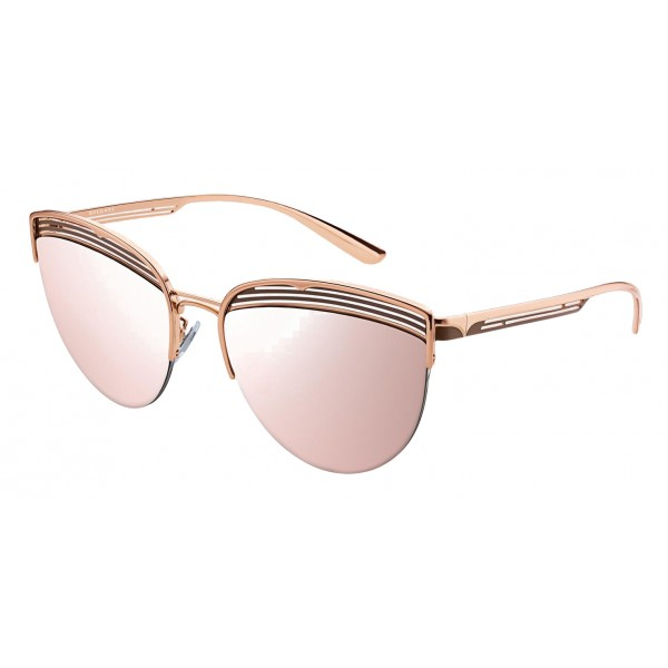 Bulgari - B.ZERO1 - Occhiali da Sole Cat Eye B.Purevibes - Semi-Rimeless - Rosa - B.ZERO1 Collection - Bulgari Eyewear