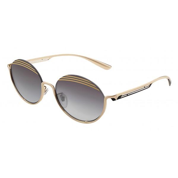 Bulgari - B.ZERO1 - Occhiali da Sole Ovali B.Stripe - Semi-Rimeless - Neri - B.ZERO1 Collection - Bulgari Eyewear
