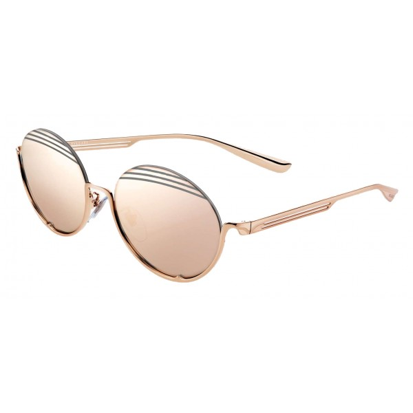 Bulgari - B.ZERO1 - Oval Sunglasses B.Stripe - Semi-Rimeless - Rose - B.ZERO1 Collection - Bulgari Eyewear