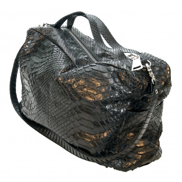 Garage par Reveil - Sharon Bag - Python Bag - Black - Handmade in Italy - Luxury High Quality Accessory
