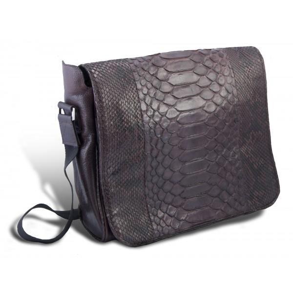 Garage par Reveil - XY Bag - Borsa in Pitone - Nero - Handmade in Italy - Accessorio di Alta Qualità Luxury