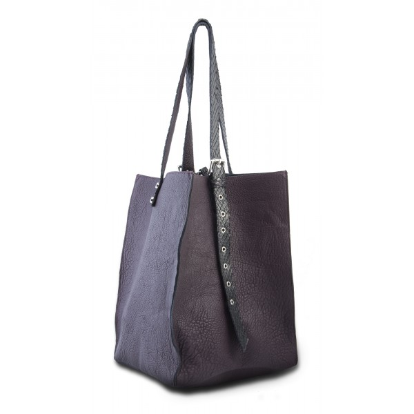 Garage par Reveil - Aria Bag - Leather Python Bag - Violet - Handmade in Italy - Luxury High Quality Accessory