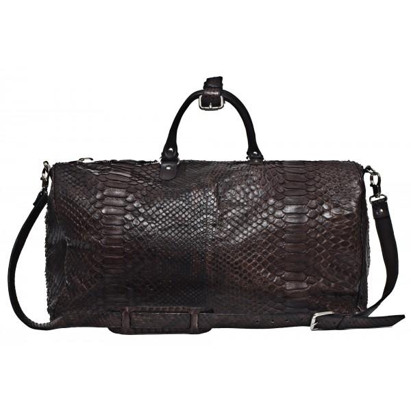 Garage par Reveil - Keepal Bag - Borsa in Pitone - Nero - Handmade in Italy - Accessorio di Alta Qualità Luxury