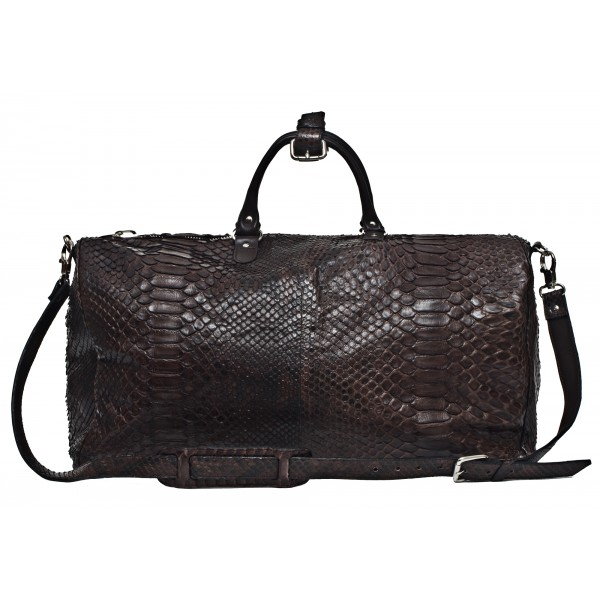 Garage par Reveil - Keepal Bag - Python Bag - Black - Handmade in Italy - Luxury High Quality Accessory
