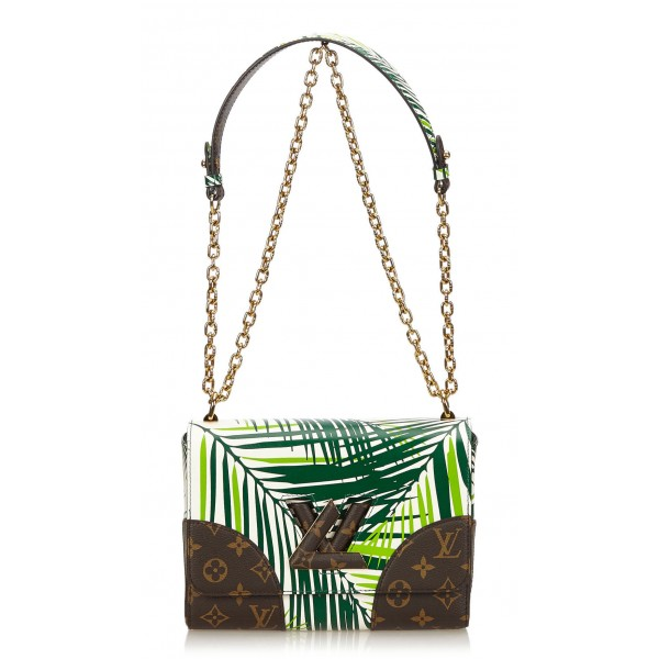 Louis Vuitton Vintage - Cruise Twist MM Bag - Green, Multi - Leather with Monogram Canvas Handbag - Luxury High Quality