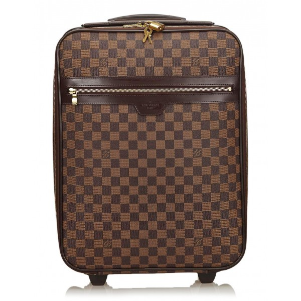 Louis Vuitton Vintage - Damier Ebene Pegase 50 Trolley - Brown - Leather Trolley - Luxury High Quality